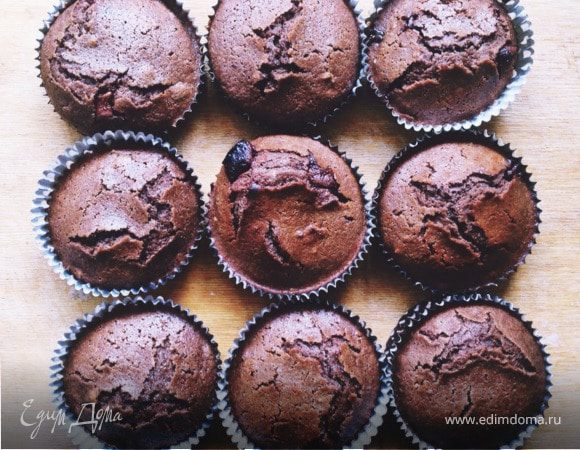Ржаные кексы с шоколадом и орехом пекан