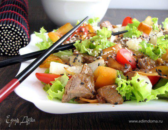 салат терияки рецепт с фото