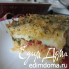 Запеканка кукурузная с помидорами и моцареллой