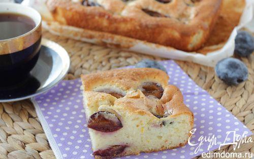 Рецепт Пирог с маскарпоне и сливой