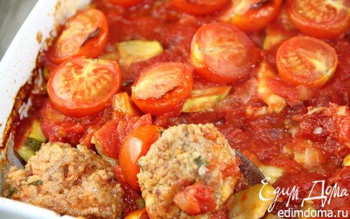 Рецепт Фрикадельки, запеченные с овощами