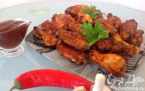 Рецепт Острые куриные крылышки в глазури