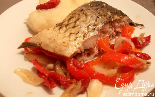 Рецепт Карп с овощами и чесночным маслом