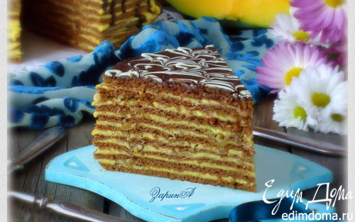 Рецепт Торт медово-шоколадный с тыквенным кремом