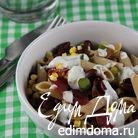 Салат из пасты с фасолью и кукурузой