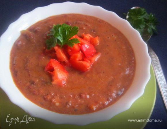 Суп из красной фасоли и томатов