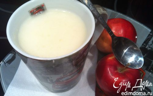 Рецепт Яблочно-молочный кисель