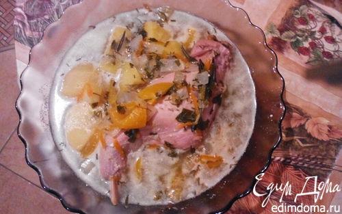 Рецепт Кролик, тушенный с овощами в мультиварке