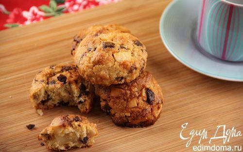 Рецепт Орехово-шоколадное печенье с морской солью