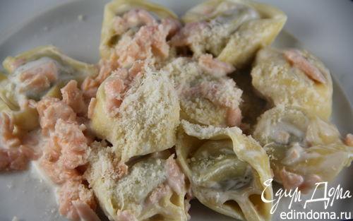 Рецепт Быстрая паста с соусом из копченого лосося