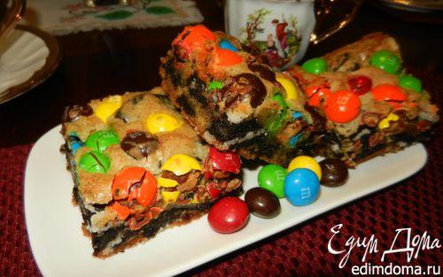 """Рецепт Печенье """"Вкусняшка"""" (Loaded M&M Oreo Cookies Bars)"""