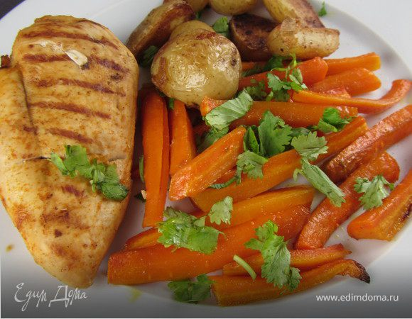 Гарнир из пряной моркови