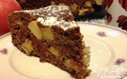 """Рецепт Шоколадный пирог с яблоками """"Баба Яга"""""""