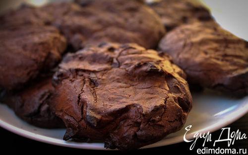 Рецепт Печенье с горьким шоколадом