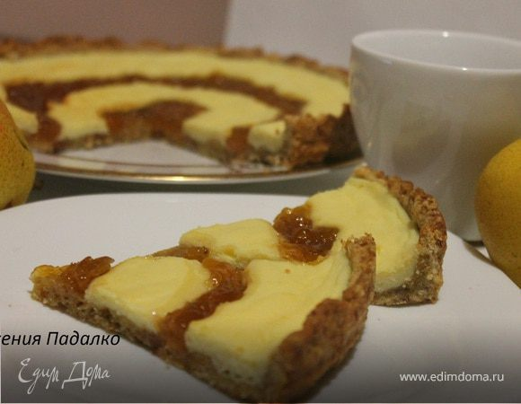 Пирог с творогом и джемом