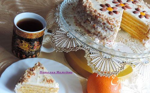 """Рецепт Тыквенно-апельсиновый торт """"Восторг"""""""