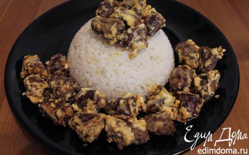 Рецепт Куриные сердечки, тушеные в сметане