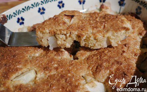 Рецепт Легкий пирог с яблоком и грушей