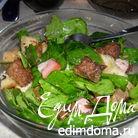 Салат с жареной печенью