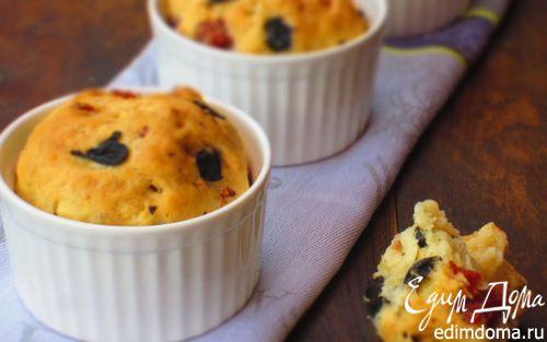 Рецепт Мини-бриоши с салями и оливками