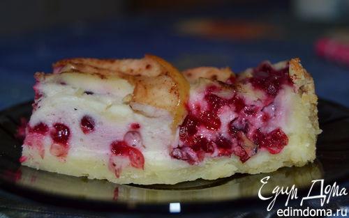 Рецепт Брусничный пирог с яблоками
