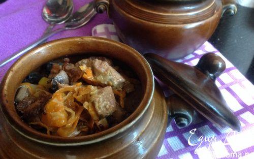 Рецепт Горшочки с бараниной и овощами
