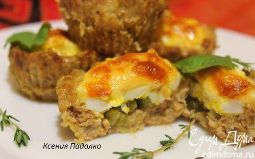 Рецепт Мясные кексы с начинкой