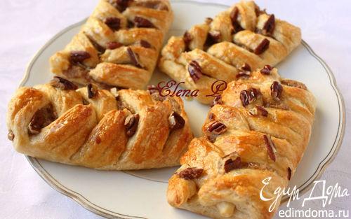 Рецепт Датские булочки с пеканом и кленовым сиропом
