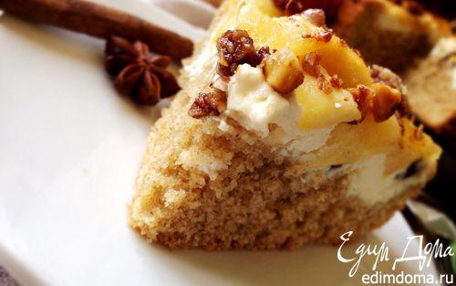 Рецепт Творожно-яблочный пирог с гранолой