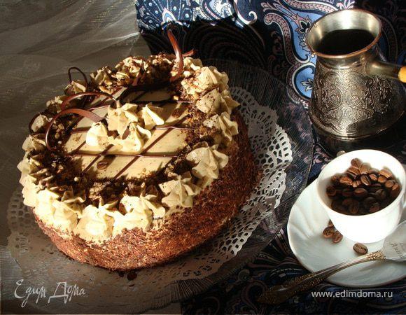 "Торт ""Кофе, сливки, шоколад"""