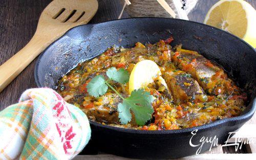Рецепт Белая рыба, запеченная в пикантном соусе