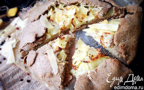 Рецепт Пшенично-ржаная галета с яблоками и картофелем