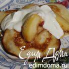 Оладьи с яблоками и яблочной карамелью