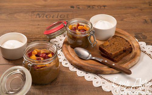 Рецепт Десертный хлебный суп с кремом