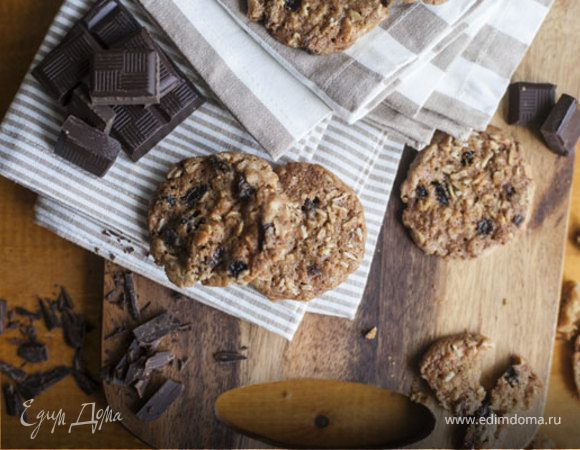 Овсяное печенье с кусочками шоколада