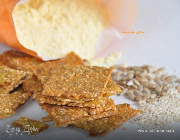 Шведские хрустящие хлебцы с семенами