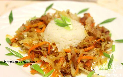 Рецепт Рис с солянкой из капусты