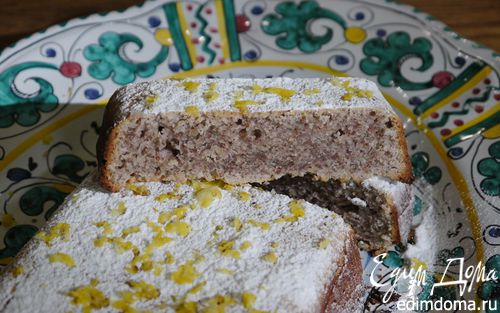 Рецепт Лимонно-имбирный кекс с орехами пекан