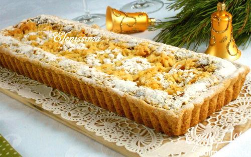 Рецепт Творожно-миндальный пирог со штрейзелем