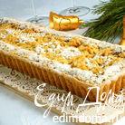 Творожно-миндальный пирог со штрейзелем