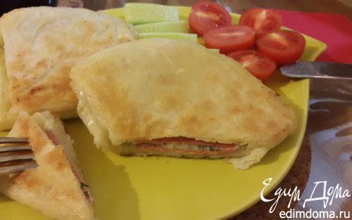 Рецепт Лаваш с сыром и зеленью