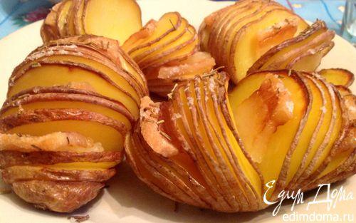 Рецепт Запеченная картошка с салом и розмарином