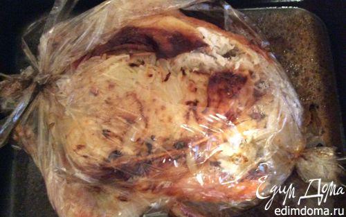 Рецепт Курица, фаршированная квашеной капустой