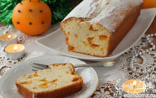 Рецепт Новогодний кекс с консервированными мандаринами
