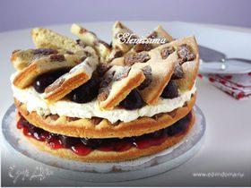 Вишнёвый торт с пряным печеньем
