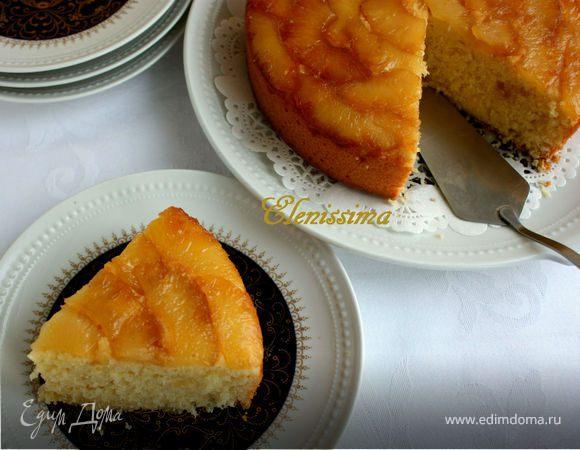 Пирог с ананасом и кокосом