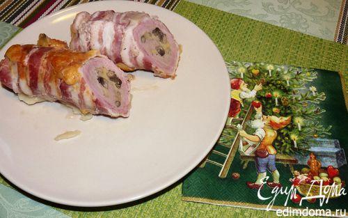 Рецепт Рулет из свиной вырезки в беконе