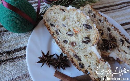 Рецепт Рождественский штоллен с грецким орехом