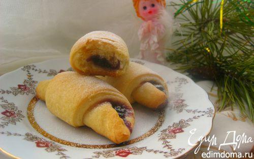 Рецепт Рогалики песочно-дрожжевые со сладкой начинкой