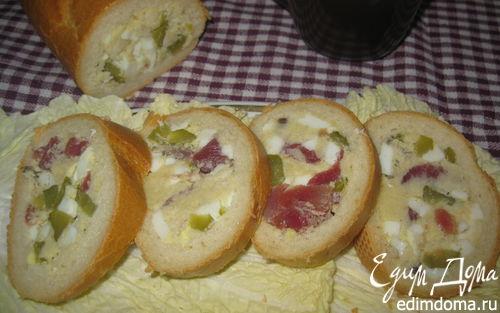 Рецепт Бутерброд-рулет